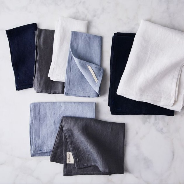 Think of these 100% linen pieces as your table's capsule wardrobe: The neutral colors will compliment all your dishes, plus they're made to be used everyday, getting loved with each spontaneous dinner party and softer with every wash. They're inspired by real-life heirloom pieces created by a mom in gratitude for the stories her grandmother passed down to her through her linens. And if you're stumped for table setting ideas—fear not, we've got your back.