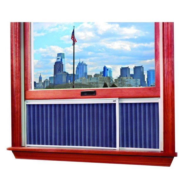 This air purifier can be used in most double hung windows and is adjustable to fit windows from 20 in. to 36 in. The screen baffle design keeps out rain and snow during inclement weather and is easy to put in and out of your window.