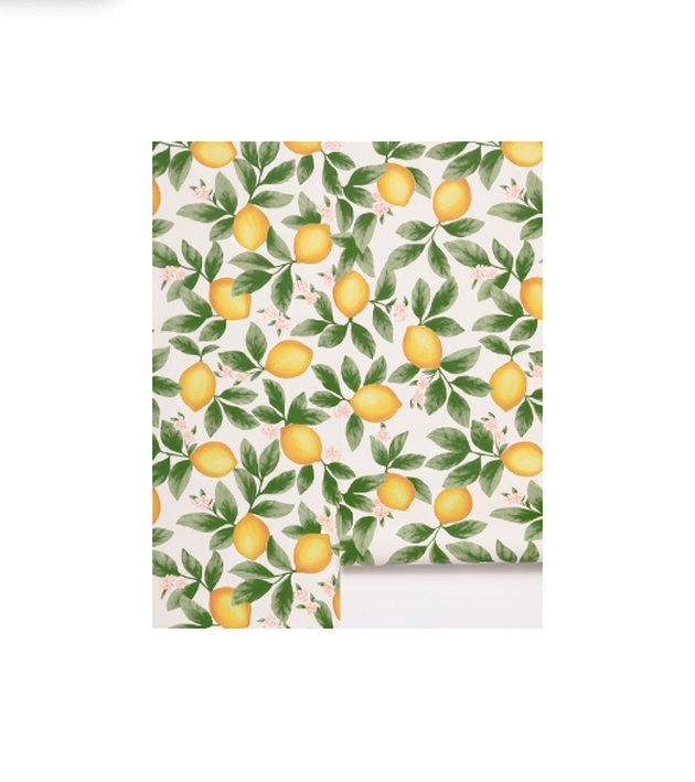 Give your walls a wake-up call with this illustrated wallpaper. The citrus print offers a fun pop of color that's perfect for kitchens and powder rooms, and oh-so cute for nurseries - try just an accent wall or go all-out and cover the entire space for a lemony-fresh statement.