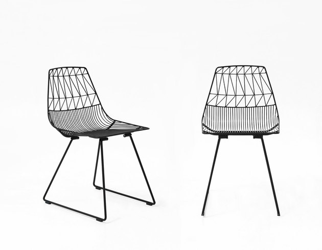 Elegant, vibrant, comfortable and durable are just a few words that describe the first piece ever designed by Bend: the Lucy Chair. This wire dining chair features signature tight knit welds to provide support and distinct wire patterning for added detail.