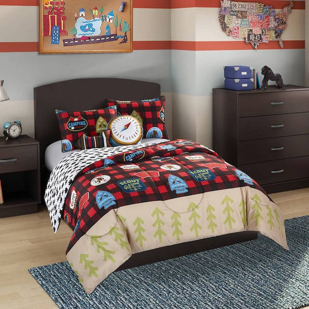 Better Homes & Gardens Kids Plaid Camp Scout Twin Comforter Set
