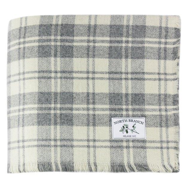 Melange Home Granle Plaid Wool Blanket