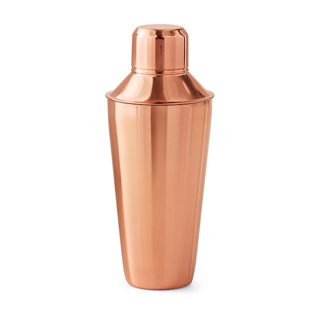 Mainstays 25-Ounce Stainless Steel Cocktail Shaker, Copper