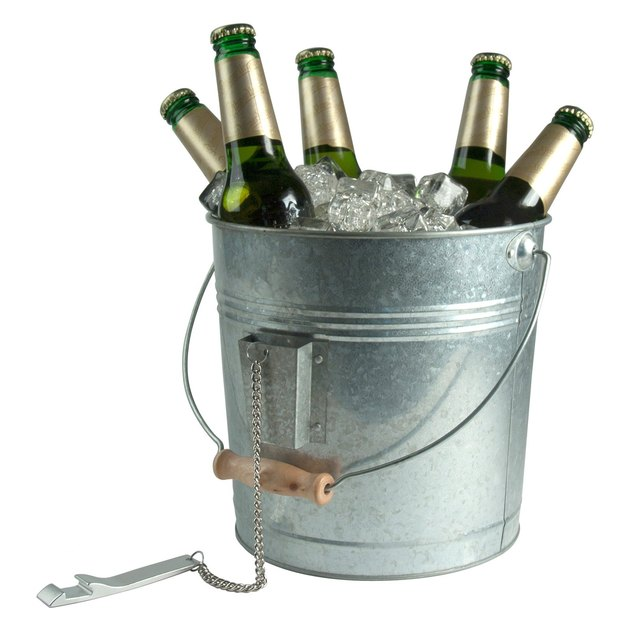 Artland Inc. Oasis Galvanized Beverage Pail with Opener