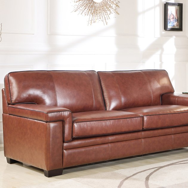 Devon & Claire Sander Brown Top Grain Leather Sofa