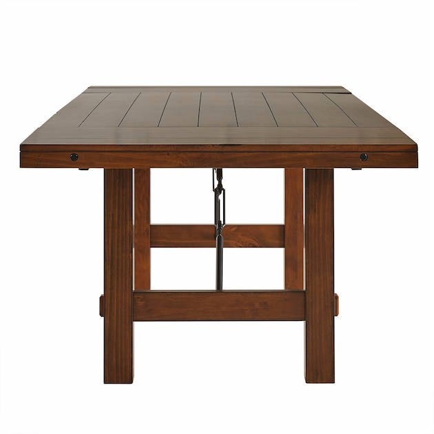 Weston Home Clayton Dining Table, Rustic Oak