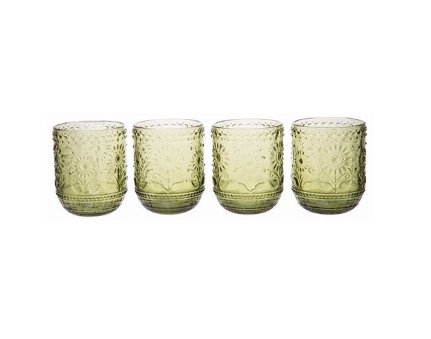 These beautiful glasses are the perfect touch to add to any kitchen or glassware collection, with a beautiful design and color that will catch lighting elegantly to bring life and flair to any table setting.