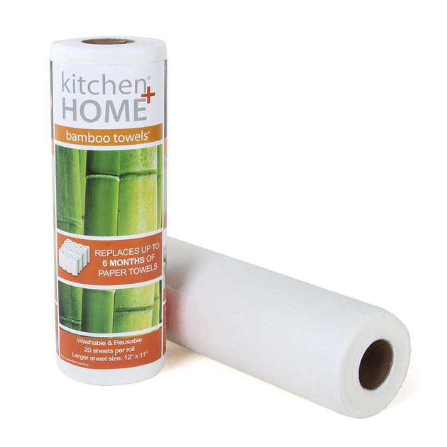 "Our heavy-duty bamboo towels are stronger, more absorbent and durable than regular paper towels. Made from a sustainable certified organic bamboo source, each roll comes with 20 perforated 11""x12"" lint free bamboo sheets. One roll replaces 60 conventional paper towel rolls and fits in your regular paper towel dispenser."