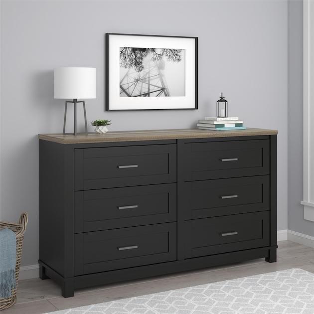 Ameriwood Home Carver 6 Drawer Dresser