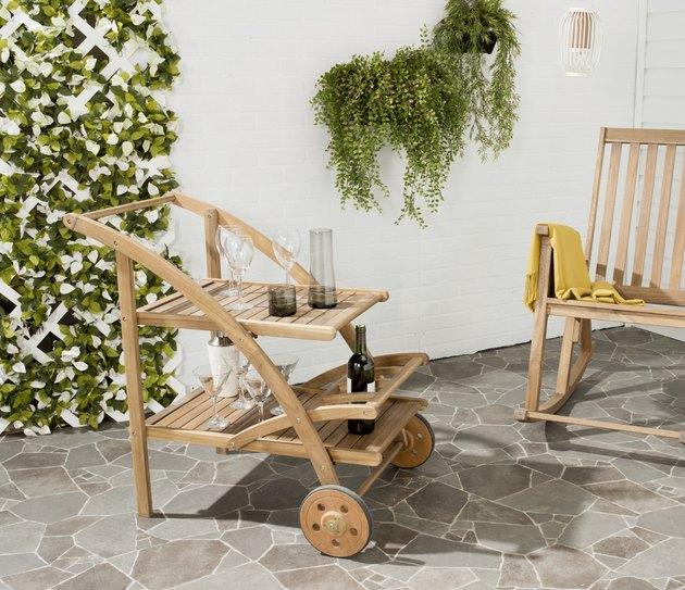 Safavieh Lodi Indoor/Outdoor Contemporary Tea Cart