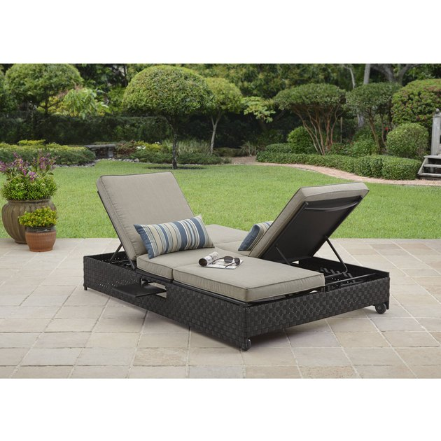 This Better Homes and Gardens Avila Beach Double Lounger/Sofa is perfect for your outdoor oasis. Its innovative functionality allows you to quickly and easily convert it from a two person chaise lounge to an outdoor sofa, or to a fully flat daybed. It is constructed with all-weather wicker with a powder-coated Steel frame finish.