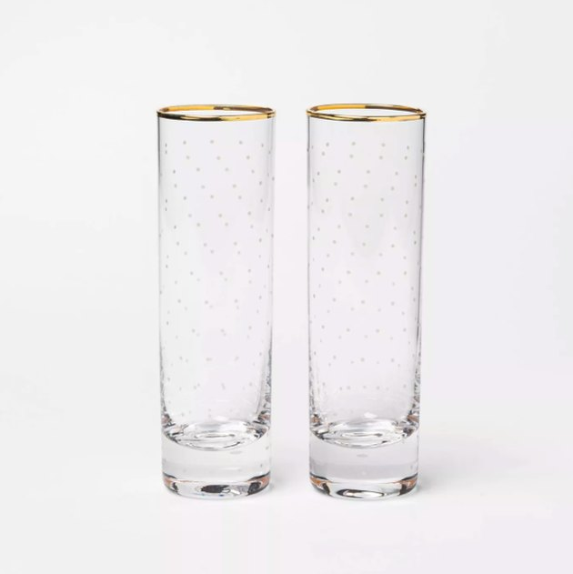 Glass with White Dot Champagne Flutes Set of 2 - sugar paper™