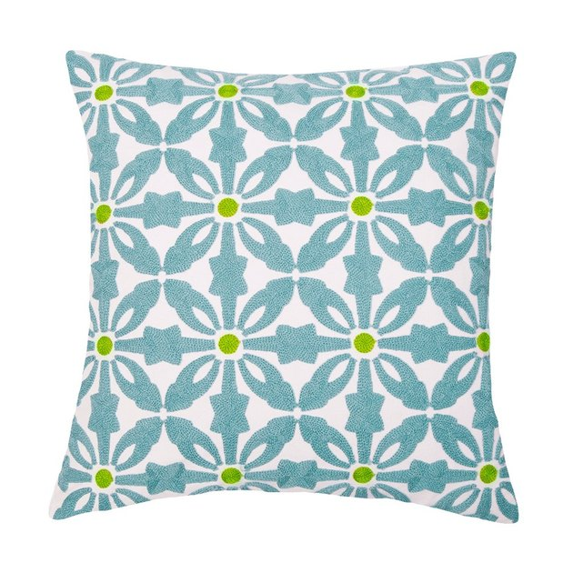 This is modern geometric embroidery cushion covers, not printed; made of fabric with perfect natural organic cotton, able to wick away sweat and moisture, prevent against growth or collection of dust mites, allergens, bacteria