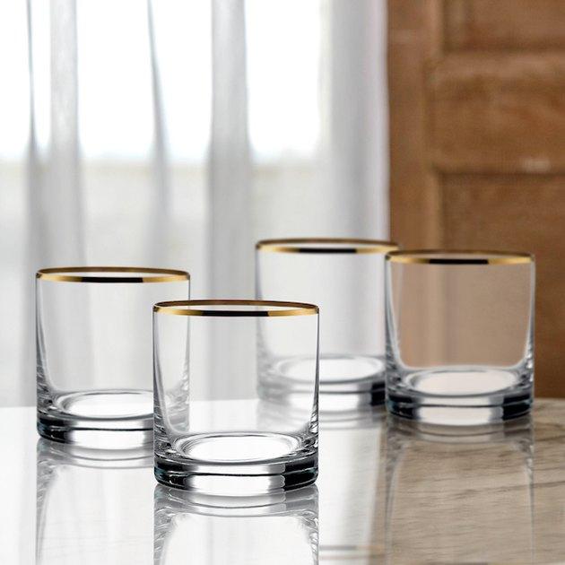 Better Homes & Gardens Metallic Rim DOF Glasses Set of 4