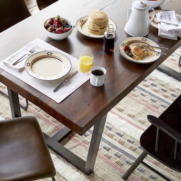 Mainstays Southwestern Border Collection Beige Stoneware Dinner Plate Set, 4 Count