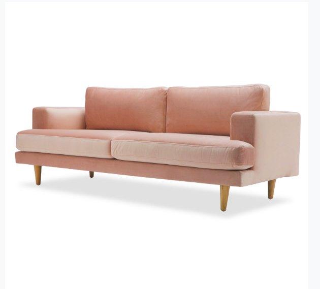"""Velvet Track Arm 86"""" Sofa, Multiple Colors by Drew Barrymore Flower Home"""