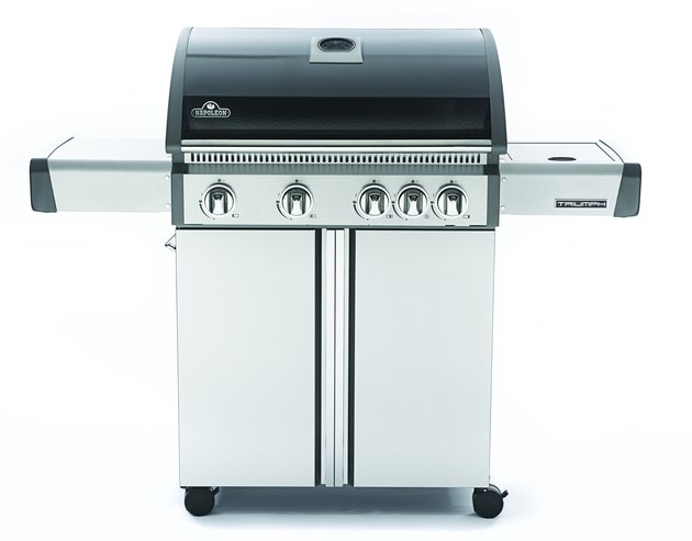 Napoleon Triumph® 495 LP Grill with Side Burner, Black with Cover Included