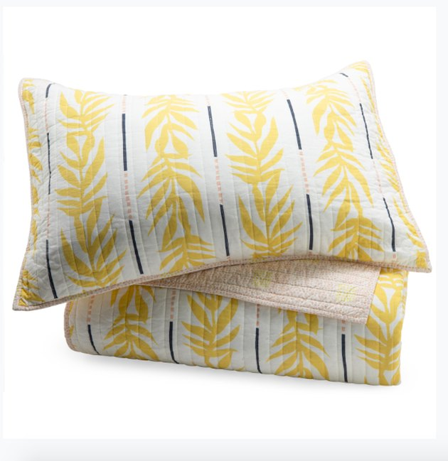"""""""Vintage Palm 3 Piece Quilt Set by Drew Barrymore Flower Home"""""""