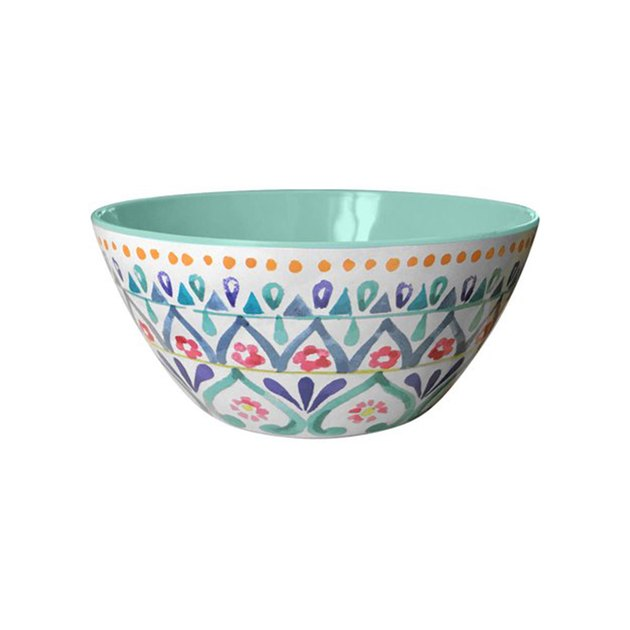 They're made from Melamine and are tough enough for the wear and tear of family meals, yet pretty enough to use at a dinner party, too.