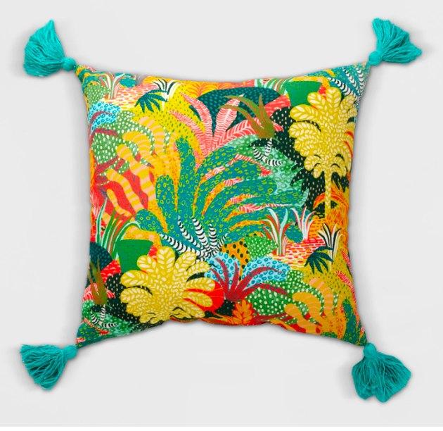 Opalhouse Tassel Outdoor Pillow Yellow/Green