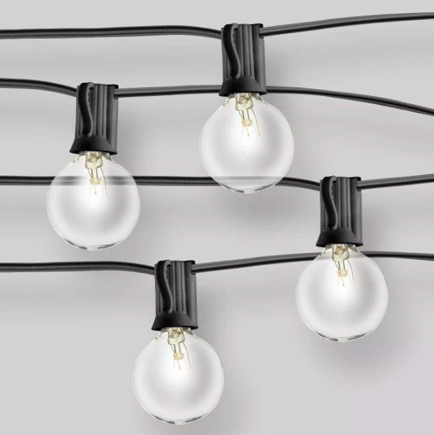 Clear Globe String Lights Black - Room Essentials™