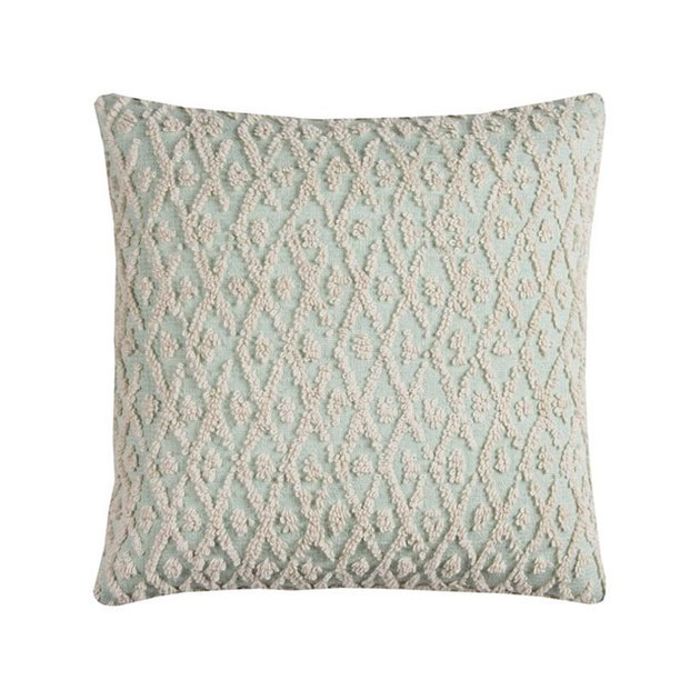 "Rizzy Home Decorative Poly Filled Throw Pillow Textured Diamonds 20""X20"" Light Mint"