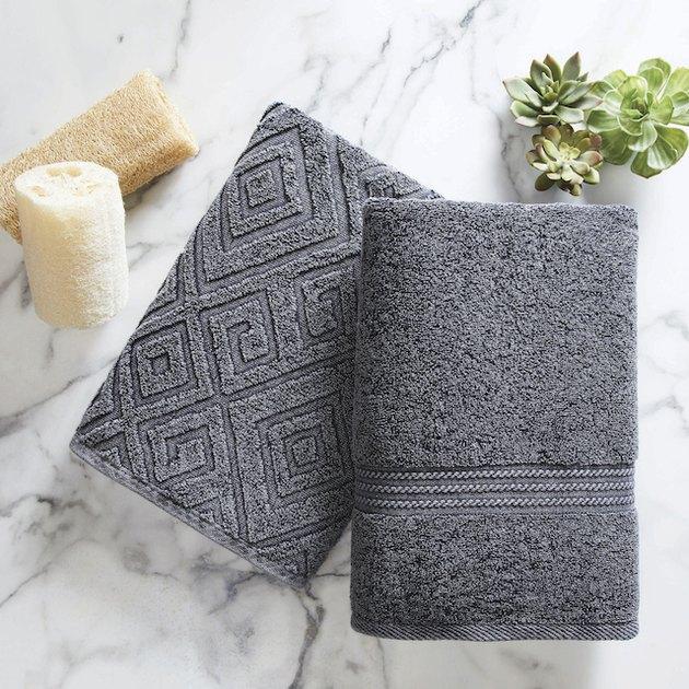 Denim Diamond Cotton Towel Set - 2pc by Better Homes & Gardens