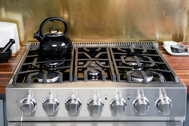 how to clean a stovetop industrial range