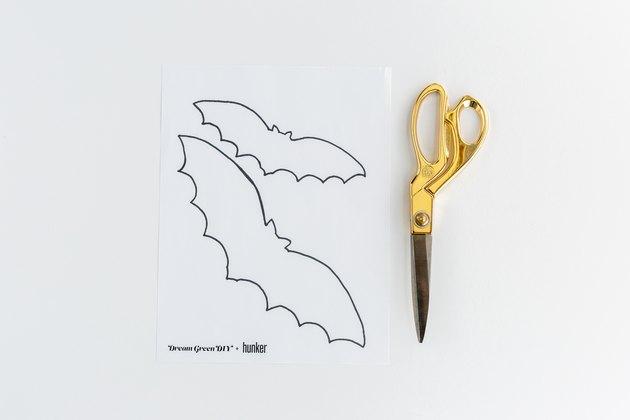 scissors and bat cut-out templates