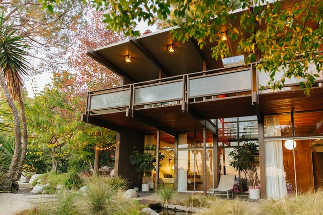 Exterior of large midcentury home Home Exterior Ideas