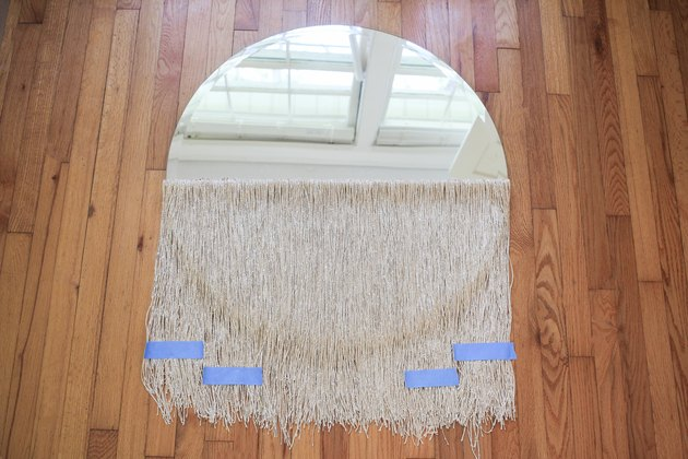 Round curtain fringe mirror