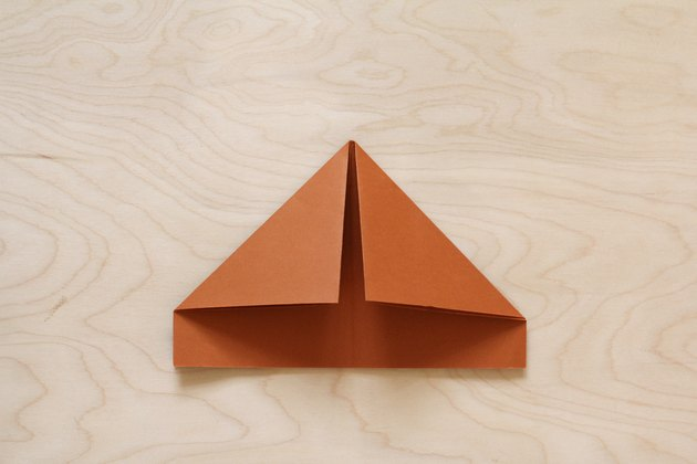 Papier brun plié