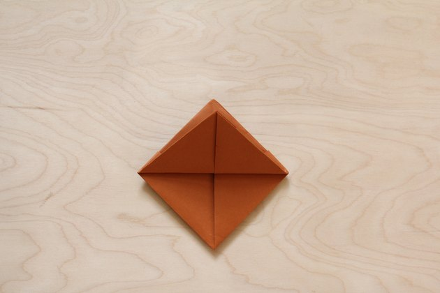 Folded brown paper