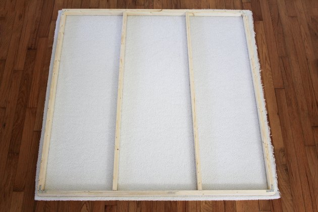 Wood frame with white shearling