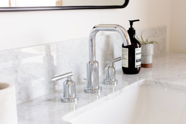 Bathroom sink and faucet