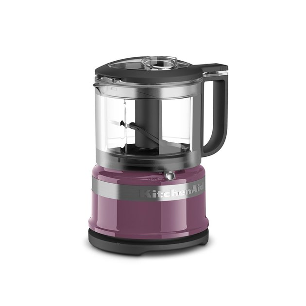Weighing in at just over 2.5 lbs, this mini food processor will help you whip up a ton of different meals without cramping your countertop, and the 3.5-cup bowl is perfect for processing ingredients for two. Inside of the dishwasher-safe bowl, you'll find a stainless steel blade that can chop and puree with precision, locking into place when needed so you can pour your sauces and purees with ease. Meanwhile, the processor's two speeds and pulse operation let you create everything from chunky pico de gallo to smooth sauce.