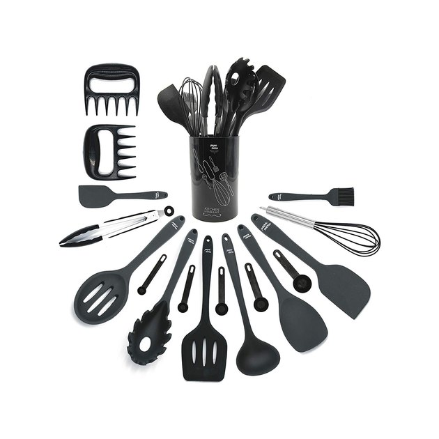 This 18-piece utensil set offers all of the tools you need to make standard recipes, and at just over $20, it's a total steal. But don't think that just because the set's affordable that it's lacking on the quality front. Every utensil is made from durable, food-grade silicone that's FDA-certified and BPA-free, meaning you won't be eating your meals with a side of dangerous chemicals.