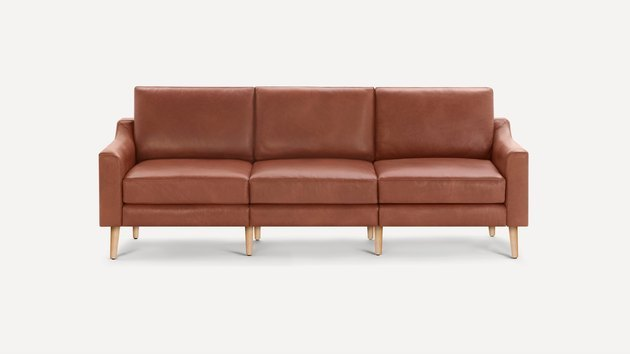 "The Nomad Sofa is 86"" of soft, supple, and sophisticated top-grain Italian leather, and includes all the clever, life-changing conveniences you expect from Burrow, like our modular, easy-to-move design and built-in USB charger."
