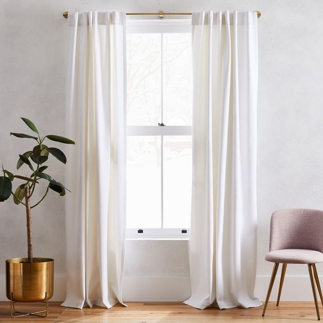 Washed Cotton Canvas Curtains (Set of 2)