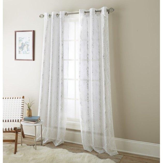 Eves Solid Sheer Grommet Curtain Panels