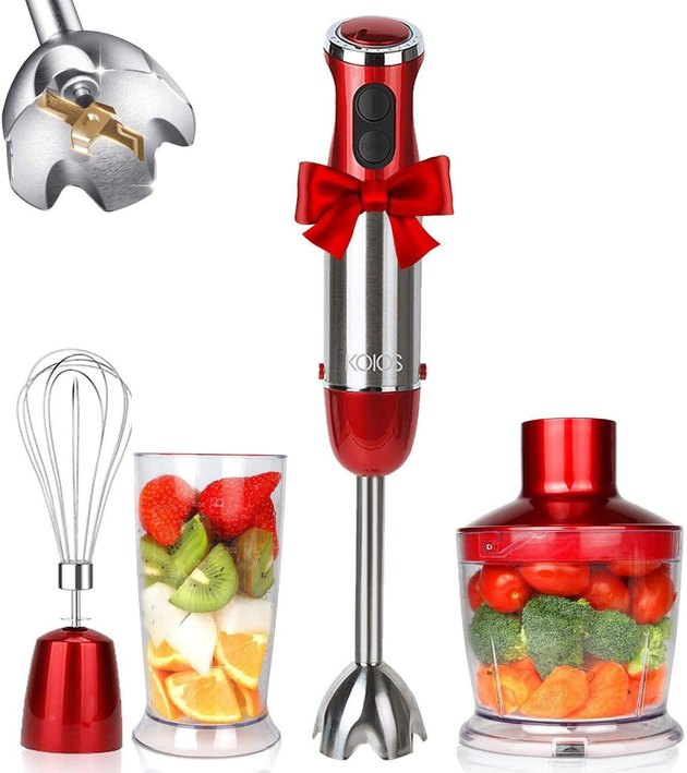 The KOIOS Immersion Hand Blender is an extra compact blender that takes up minimal counter and drawer space but looks so sleek you'll want to put it on display. While it's on the smaller side, it has a hefty 800-watt motor and 12 speeds, ideal for making pureed baby food or soup. Not to mention, it's dishwasher safe, easy to clean, and comes with a mixing beaker, whisk, and chopper attachment.
