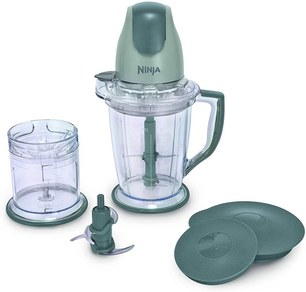 In addition to dicing, chopping, and mincing ingredients, this all-in-one processor can blend frozen fruits and veggies in an instant, making it just as great for meals as it is for refreshing smoothies. The ergonomic, 400W Power Pod features a simple, one-touch pulsing button that delivers control and consistent results, while two different blades let you blend and process with precision.