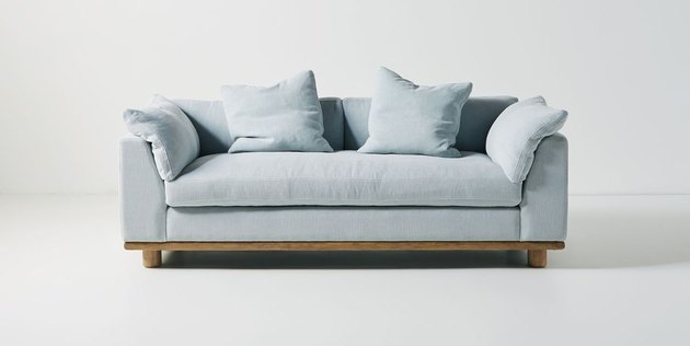 Boasting down-filled cushions that slope over its arms with ease, this sofa offers a spirit of relaxation and respite. A low back and a deep seat lend to an informal silhouette, yet it retains a sense of polished modernity that enhances just about any style of living space.