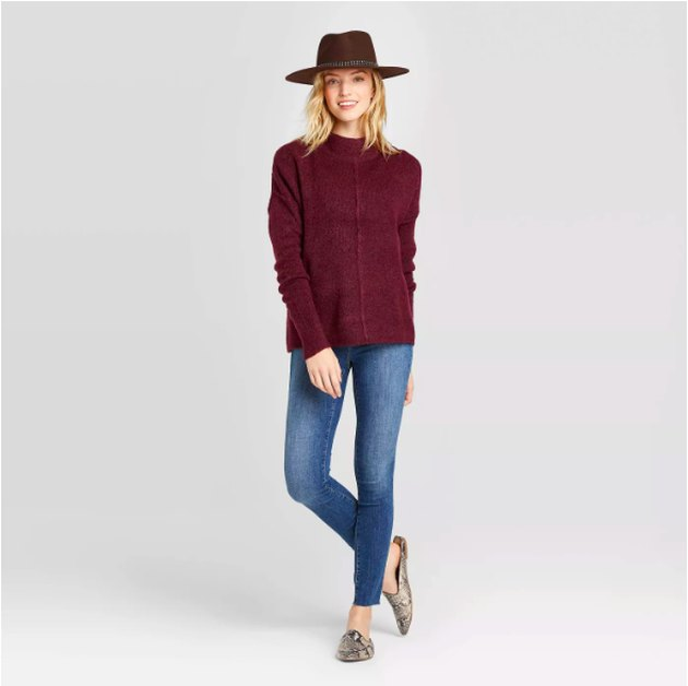 Women's Long Sleeve Mock Neck Pullover - Universal Thread™