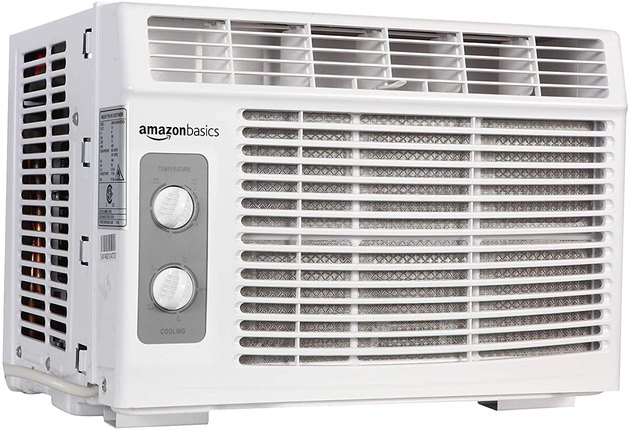 This unit from Amazon Basics cools spaces up to 150 square feet and comes with a built-in filter that helps to keep your air fresh, clean, and cool. It features seven temperature settings, dual cooling and fan settings, and adjustable air direction.