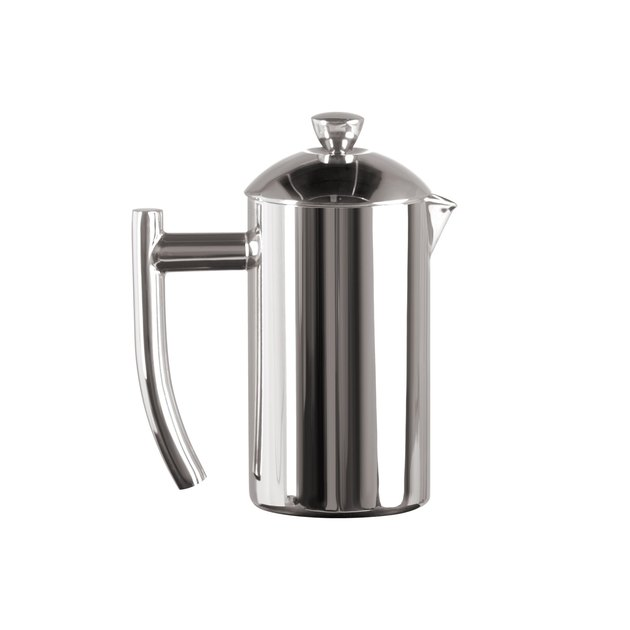 The double-wall stainless-steel carafe doubles as an insulated serving pitcher, retaining heat four times longer than glass for hot pours every time, and the patented dual screen means you'll drink every cup without a trace of sediment.