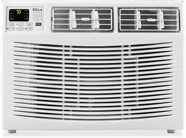 With the ability to cool rooms up to 550 square feet, this compact unit is a great option for large spaces. It's also Energy Star-certified and comes with a washable air filter, a 24-hour timer, and temperature settings ranging from 61-88 degrees Fahrenheit.