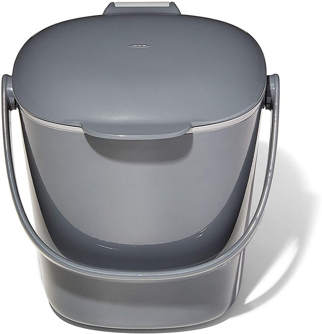 OXO can do no wrong. This reliable brand comes in clutch with well-made, good-looking products, and this compost bin is just that. One of Amazon's most popular bins, this Good Grips staple features a smooth interior and removable lid for easy emptying and cleaning. The odor-reducing lid and sturdy handle add even more practicality to this super affordable pick.