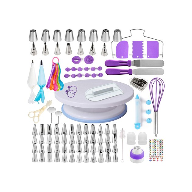 From fancy cupcakes to flowery layer cakes, this 137-piece cake-decorating kit has everything you need to bake something sweet and pretty for a special occasion, or no occasion at all.
