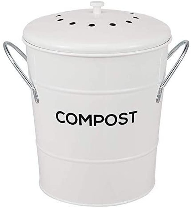 Say hello to your new favorite kitchen accessory. This cute compost bin is easy to clean, leak-free, and fits up to a gallon of food scraps. The activated charcoal filter eliminates odor, while the handles and removable basket allow for super easy transportation. The best part? It doubles as decor.